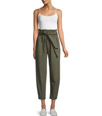 bb dakota women's love your work cotton paperbag pants - sage - size xs