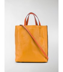 marni museo two-tone leather tote bag