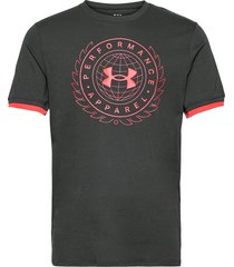 ua crest ss t-shirts short-sleeved svart under armour