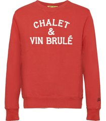 chalet & vin brulè terry patch embroidery sweatshirt
