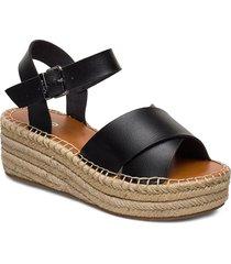 tineviel sandalette med klack espadrilles svart aldo