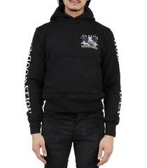 amiri black eagle hollywood hoodie