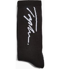 mens signature black printed tube socks