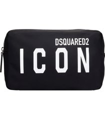 dsquared2 beauty case in black nylon
