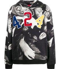 424 wu-tang clan hoodie - black