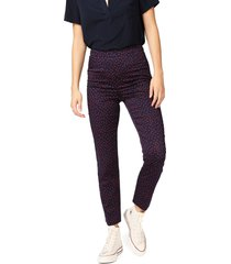 women's court & rowe scatter dot slit hem pants