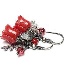 koralowe róże vol. 8 - kolczyki