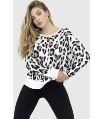 sweater animal print espalda abierta freda crudo racaventura