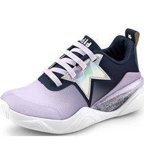 zapatillas estrellas line flow morado bibi