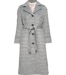 lengthy beaut coat wollen jas lange jas grijs odd molly