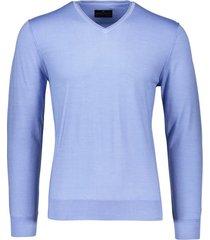 portofino pullover blauw met v-hals