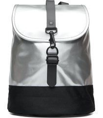 drawstring backpack ryggsäck väska silver rains