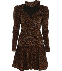 the attico animalier mini dress