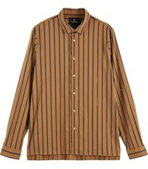 regular fit - satin striped shirt