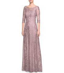 la femme lace a-line gown, size 14 in cocoa at nordstrom