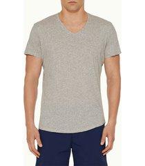 orlebar brown men's crewneck t-shirt - mid grey melange - s
