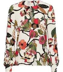 mandra blouse lange mouwen multi/patroon baum und pferdgarten