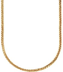 """chevron link 18"""" chain necklace (1.6mm) in 18k gold"""