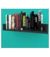 estante de livros nichos modernos em mdf preto