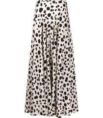 aspesi dotted print silk skirt - neutrals