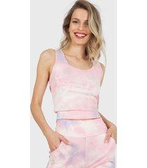 polera nrg crop top rosa - calce ajustado