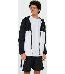 jaqueta esportiva lisa gola alta com capuz