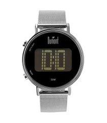 relógio digital dumont feminino - dubj3406ab/3p prateado