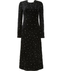miu miu velvet dress with crystals