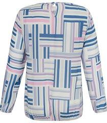 blouse met lange mouwen en ronde hals van anna aura multicolour