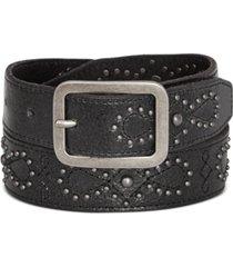 frye & co western stud leather jeans belt