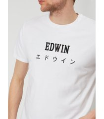 edwin men's edwin japan t-shirt - white - xl - white