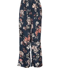 trousers broek met wijde pijpen blauw rosemunde