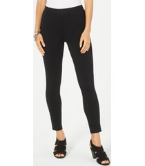 style & co petite lace-trim skinny leggings, created for macy's