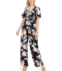 jessica howard ruched-waist jersey jumpsuit