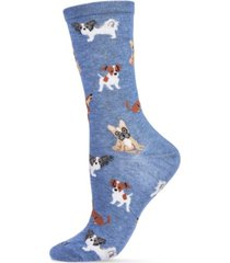 women's they call it pupper love bamboo blend crew socks
