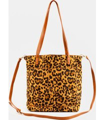 solice leopard printed basic tote - leopard