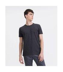 camiseta básica em algodão   request   cinza   g