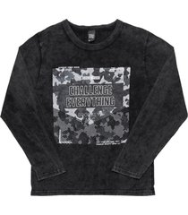 camiseta livy inverno camuflada preto