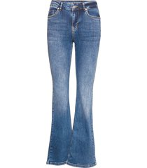 dhcelina bootcut high custom jeans wijde pijpen blauw denim hunter