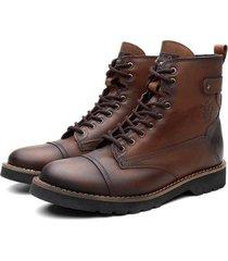 bota coturno black boots bm cano medio masculina