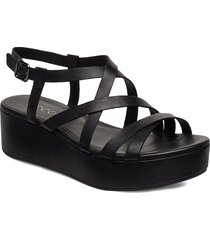 elevate plateau sandal shoes summer shoes flat sandals svart ecco