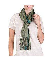 rayon scarf, 'forests of guatemala' (guatemala)