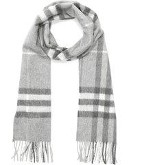 giant check cashmere melton scarf