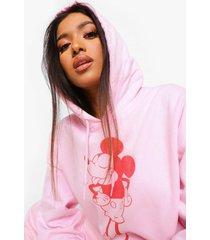 petite gelicenseerde mickey mouse hoodie, pink