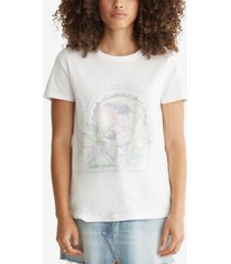 lucky brand cotton faded-graphic t-shirt