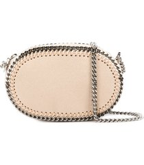 stella mccartney falabella oval crossbody bag - neutrals