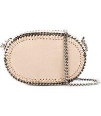 stella mccartney falabella oval crossbody bag - neutrals