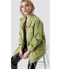 na-kd army jacket - green
