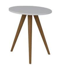 mesa lateral retrô be mobiliário redonda 51.5cm pés palito