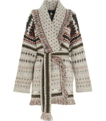 alanui lost in forest cardigan